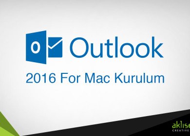 Mail Kurulumu (Outlook 2016 for Mac)